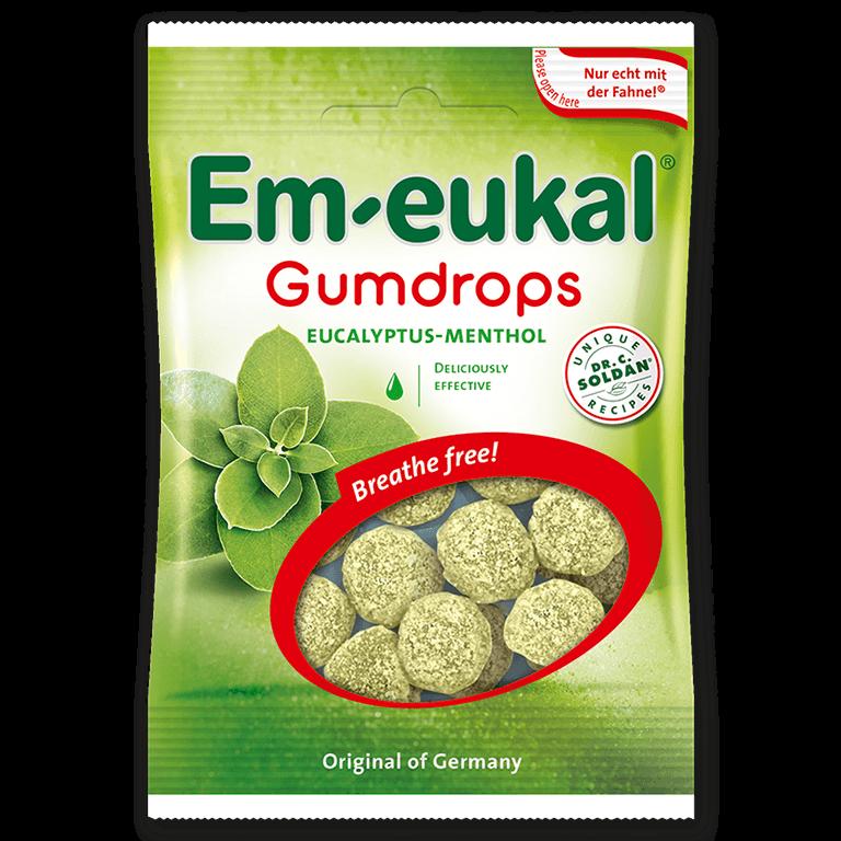 Em-eukal  Gumdrops EUCALYPTUS-MENTHOL