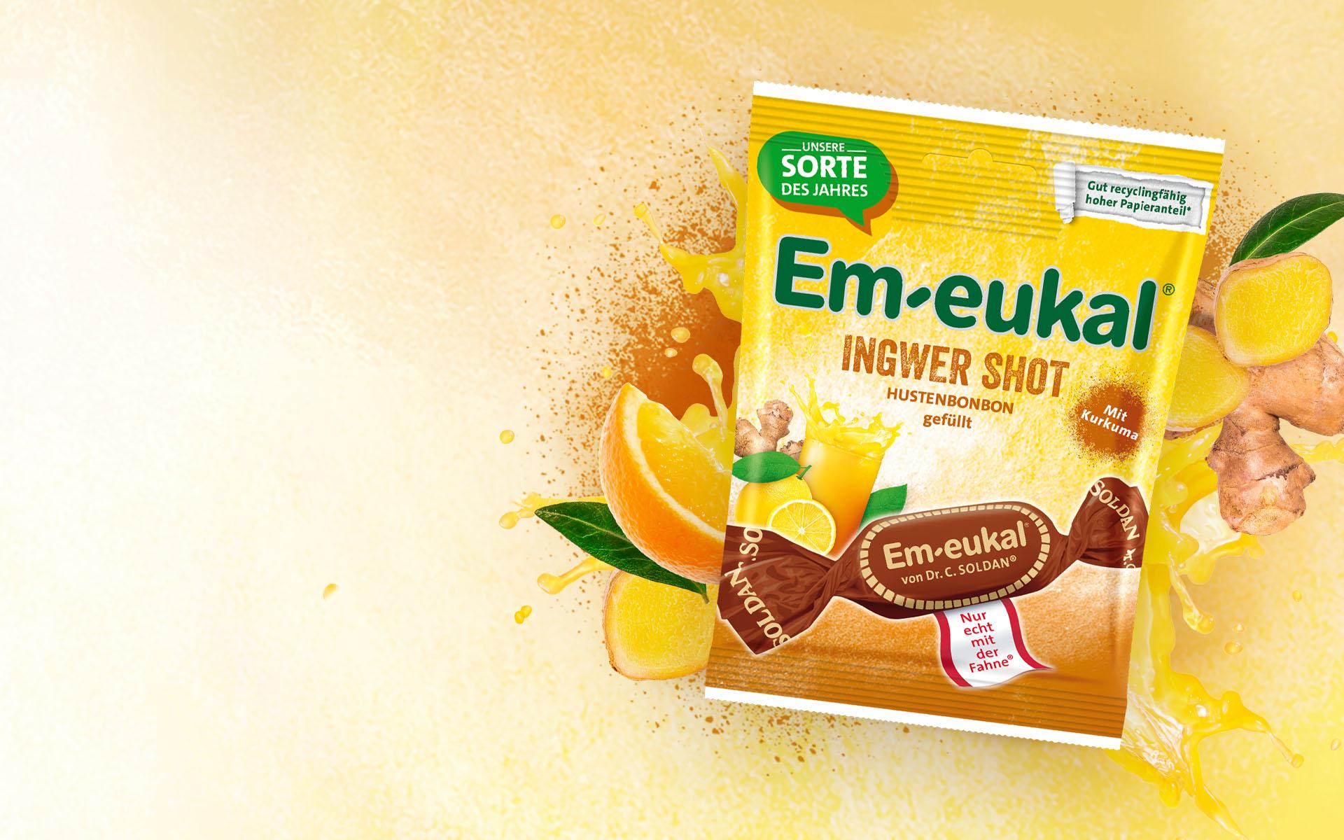 Ingwer Shot mit Kurkuma und Ingwer Em-eukal Zitrone