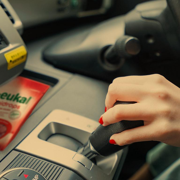 Autofahrt mit Em-eukal Gummidrops